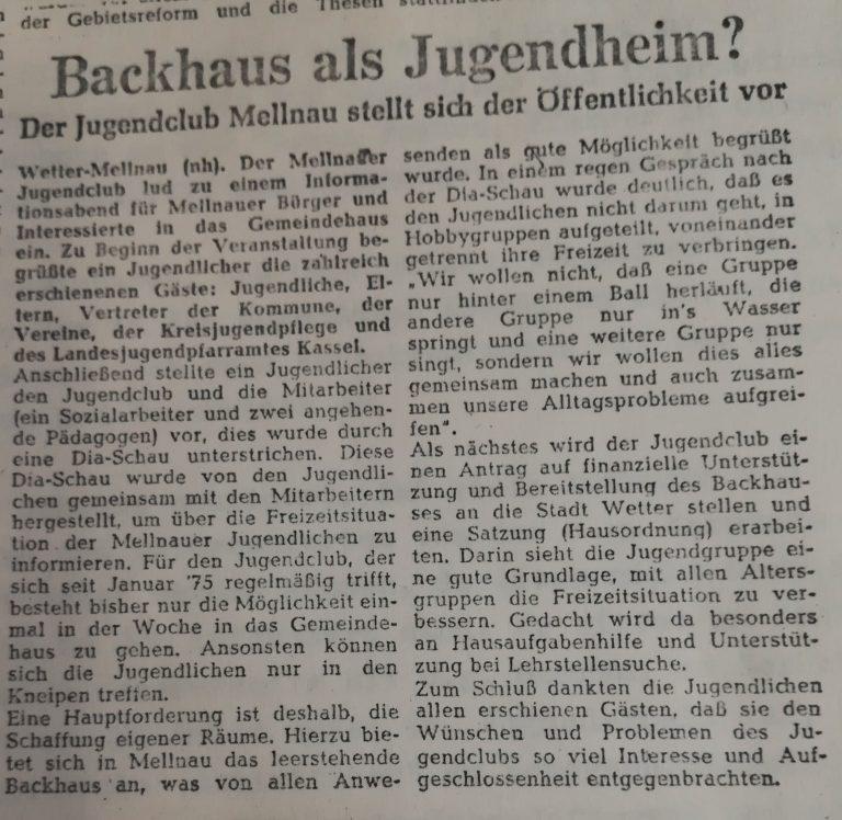 Aus der Oberhessischen Presse 1975